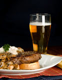 стейк картошки обеда Стоковое Изображение