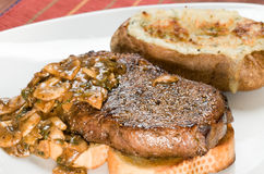 стейк картошки обеда Стоковое Фото