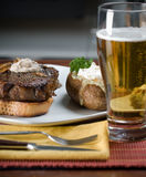 стейк картошки обеда Стоковые Фото