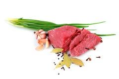 стейк ломтика чеснока отрезока говядины стоковое фото rf