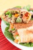 стейк мексиканца burrito стоковое изображение
