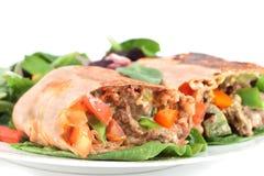 стейк мексиканца burrito стоковые изображения rf