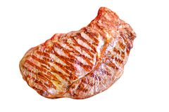 Стейк мяса изолировано стоковое изображение rf