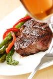 стейк обеда Стоковое Изображение RF