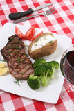 стейк обеда Стоковая Фотография RF