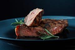 стейк плиты говядины Стоковые Фото