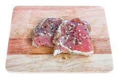стейк свинины сырцовый Стоковое фото RF