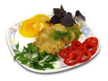 Стейк с овощами Стоковое Изображение RF