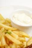 Стейк с французскими Fries Стоковые Изображения