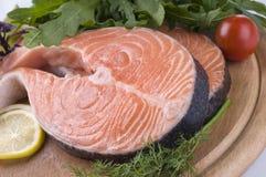 стейк трав сырцовый salmon Стоковые Изображения