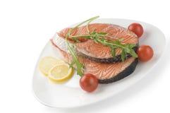 стейк трав сырцовый salmon Стоковая Фотография RF