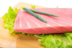 Стейк тунца сырцовый Стоковое Изображение