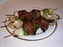 стейк kababs стоковое изображение rf