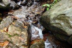 Стекание горы в весеннем времени Стоковое фото RF