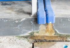 Стеките воду пакостную и загрязнение Стоковое фото RF