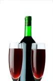 Стекла бутылки и вина Стоковые Изображения RF