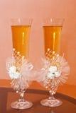 Стекла венчания с шампанским Стоковое Фото