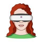 Стекла виртуальной реальности определяют значок в стиле шаржа для дизайна Сеть запаса символа вектора станции обслуживания автомо Стоковые Фото
