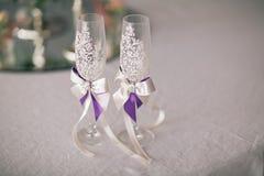 Стекла для жениха и невеста Стоковое Изображение RF