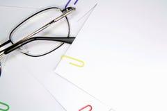 Стекла и бумаги Стоковое Изображение
