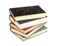 Стекла и книги стоковое изображение