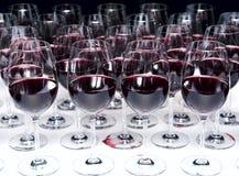 Стекла красного вина Стоковое Изображение RF