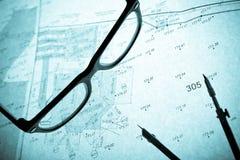 стекла круга планируют ретро съемщика s Стоковая Фотография RF
