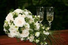 стекла невесты букета Стоковое фото RF