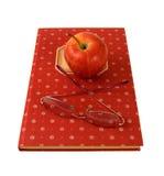 стекла поваренной книги яблока Стоковые Фото