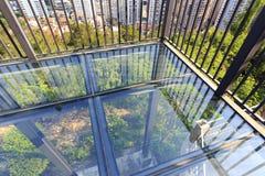 Стекла пол балкона прозрачные, саман rgb Стоковые Изображения RF