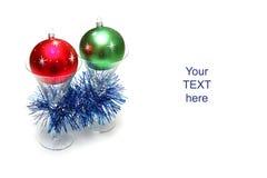 стекла рождества шариков Стоковое Фото