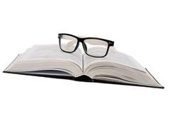 стекла черной книги Стоковые Фотографии RF