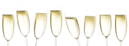 Стекла Шампани стоковое изображение rf