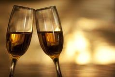 Стекла Шампани Стоковые Изображения RF
