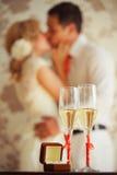 Стекла шампанского венчания Стоковое Изображение RF