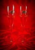 Стекла шампанского венчания Стоковые Изображения RF