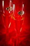 Стекла шампанского венчания Стоковая Фотография RF