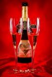 Стекла шампанского венчания Стоковое Изображение