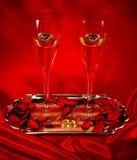 Стекла шампанского венчания Стоковые Фотографии RF