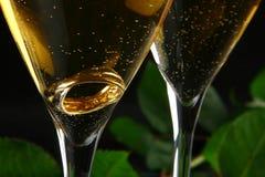 стекла шампанского внутри кольца 2 Стоковое Фото