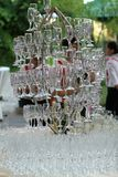 Стекла шампанского для wedding Стоковая Фотография RF