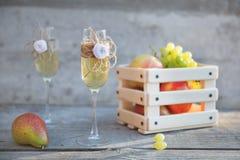 Стекла шампанского торжества свадьбы Стоковые Фотографии RF