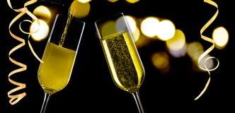стекла 2 шампанского Стоковые Фото