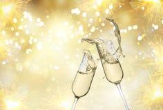 стекла 2 шампанского Стоковые Изображения
