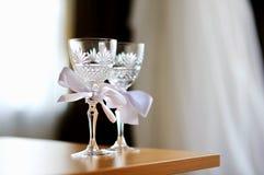 стекла 2 шампанского пустые wedding Стоковая Фотография RF