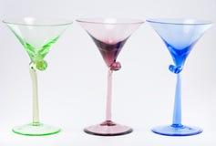 стекла 3 коктеила цветастые Стоковая Фотография RF
