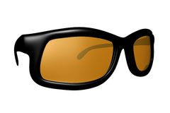 стекла 3d представляют солнце Стоковая Фотография RF
