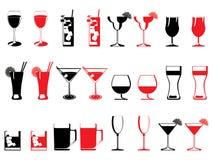 стекло абстрактного собрания выпивая Стоковая Фотография RF