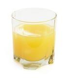 Стекло апельсинового сока на белой предпосылке. Стоковое фото RF