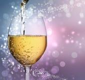 Стекло вина с белым вином Стоковые Фото